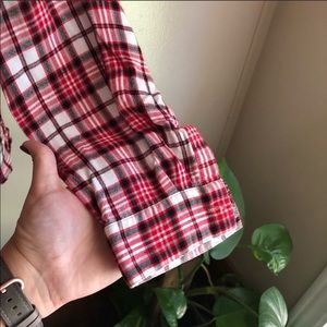 Kim Rogers Tops - Kim Rogers Red and White Flannel Style Button Down